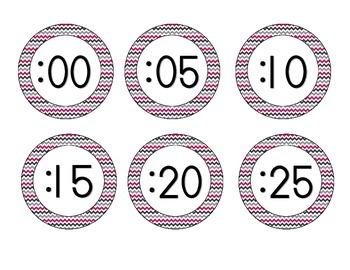 Brilliant Berry Clock Numbers