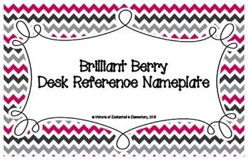 Brilliant Berry Desk Reference Nameplates