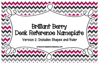 Brilliant Berry Desk Reference Nameplates Version 2