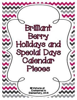 Brilliant Berry Holiday Calendar Pieces