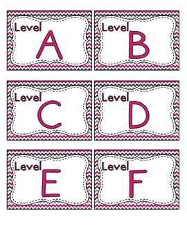 Brilliant Berry Leveled Reader Labels