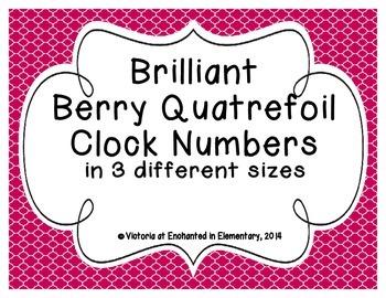 Brilliant Berry Quatrefoil Clock Numbers