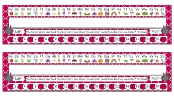 Brilliant Berry Quatrefoil Desk Reference Nameplates