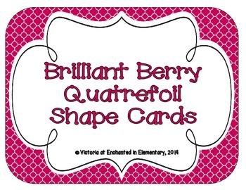 Brilliant Berry Quatrefoil Shape Cards
