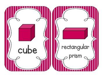 Brilliant Berry Stripes Shape Cards
