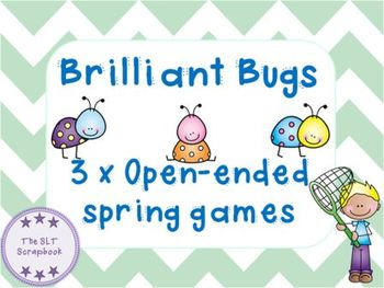 Open-Ended Games- Bugs- Spring Themed