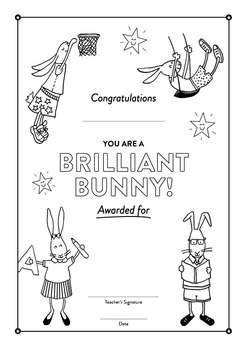 Awards Certificates - 30 Positive Commendations - Brilliant Bunnies