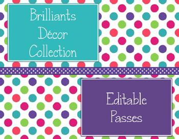 Brilliants Decor: Editable Passes