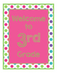Brilliants Decor: Pink Welcome Poster