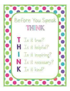Brilliants Decor: THINK Poster