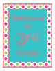 Brilliants Decor: Turquoise Welcome Poster