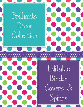 Brilliants Decor: Editable Binder Covers & Spines