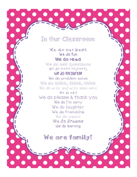 Brilliants Decor: In Our Classroom, We Do Poster