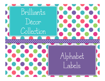 Brilliants Decor: Alphabet Labels
