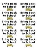 Bring Back to School - Homework Folder Labels