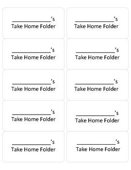 Bring RIGHT Back/LEFT at Home Take Home Folder Labels