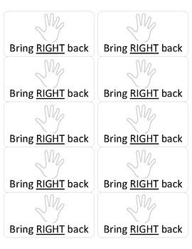 Take Home Folder Labels: Bring RIGHT Back & LEFT at Home