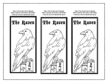 """Bring """"The Raven"""" by Edgar Poe to Life! Bookmarks, Vocabulary Games and More!"""