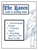 "Bring ""The Raven"" by Edgar Poe to Life! Bookmarks, Vocabul"