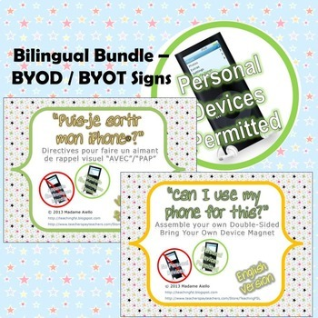 Bring Your Own Device Bilingual Sign Bundle