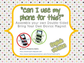 Bring Your Own Device Magnetic Sign Printable