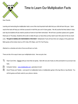Fact Practice Schedule & Student Device Permission Letter *EDITABLE