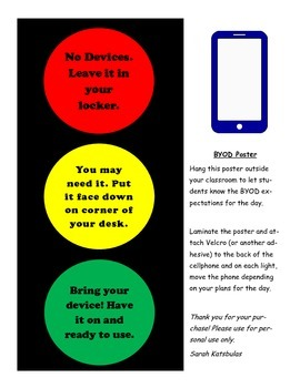 Bring Your Own Device Stoplight Poster - BYOD