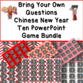 Bring Your Own Questions Chinese New Year PPT Review Game Ten Board Bundle