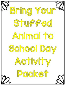 Bring Your Stuffed Animal to School Day- Peanuts Editiong