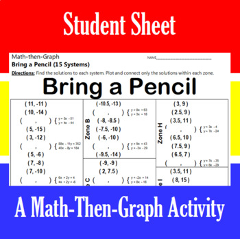 Bring a Pencil - A Math-Then-Graph Activity - Solve 15 Systems