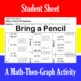 Bring a Pencil - 30 Linear Systems & Coordinate Graphing Activity