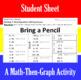 Bring a Pencil - A Math-Then-Graph Activity - Solve 2-Step Equations