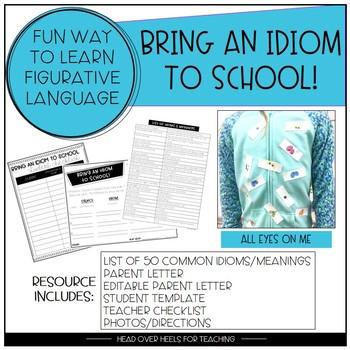 Bring an Idiom to School Figurative Language Activity