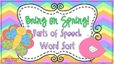 Bring on Spring Parts of Speech Word Sort