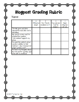 Bringing Blogging to Your Classroom: A Big Kids' Freebie