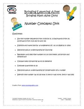 Bringing Math Alive - Grade 1 Number Concepts