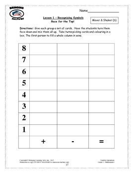 Bringing Math Alive - Grade 1 Number Operations