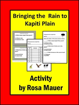 Bringing the Rain to Kapiti Plain Book Unit