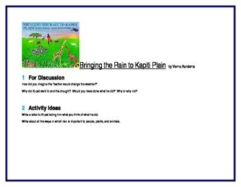 Bringing the Rain to Kapiti Plain for Literature Circles