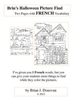 Brin's Halloween Picture Find - FRENCH