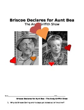 Briscoe Declares for Aunt Bea -- Andy Griffith  Manners and Communication Skills