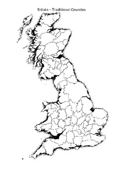 Britain Map Counties