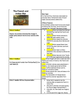 Tutorial - What Led to the Dec of Independence - Study Guide & Answer