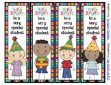 Birthday Bookmarks - 4 Designs *UPDATED*