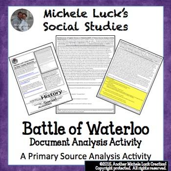 British Account of Waterloo & Napoleon Primary Source Anal