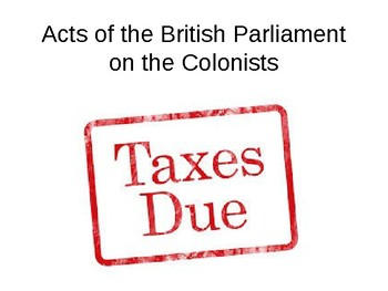 British Acts on the Colonists