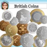 British Coins Clip Art