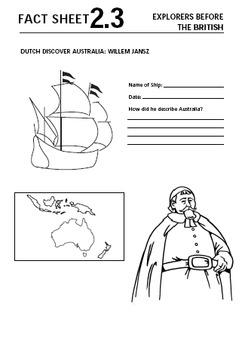 British Colonisation of Australia Lesson Bundle - Early Explorers