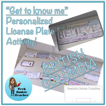 British Columbia Get to Know Me License Plate Activity
