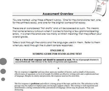 British Columbia Grade 12 English Provincial Exam Booklet